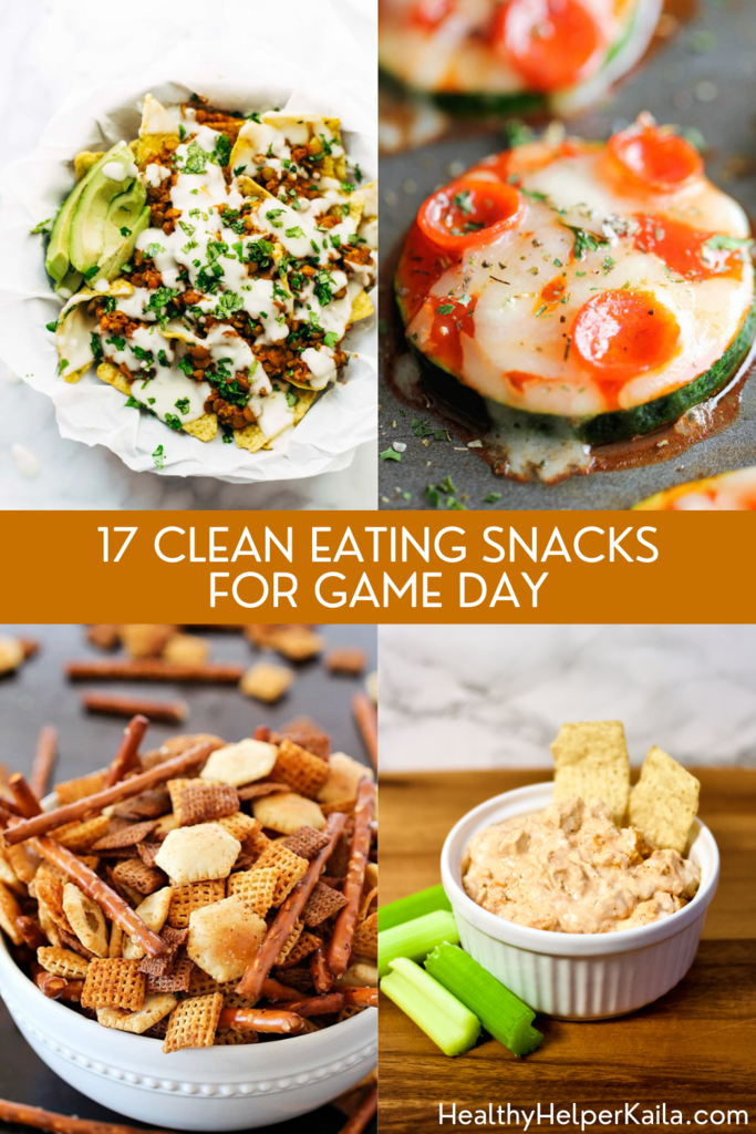 17 Clean Eating Snacks for Game Day | Healthy versions of your favorite foods to snack on while cheering your team to victory!Just as tasty, but a whole lot better for you and your family.