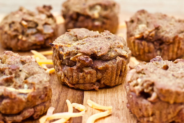 Vegan Gluten-Free Carrot Cake Muffins | Healthy vegan carrot cake muffins made with whole foods and no added sugar. Gluten-free, easy to make, and perfect or a wholesome breakfast or snack.