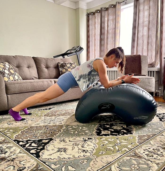 4 Ways to Get Creative with At-Home Workouts | No gym? No fitness studios? No problem. Make home workouts fun and efficient with these 4 easy tips. Creative ways to get your sweat on at home.