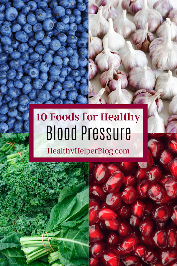 10 Foods for Healthy Blood Pressure | A list of healthy, whole foods to incorporate into your diet for healthy blood pressure and overall wellness. Plus, some recipes to use these nourishing foods in!