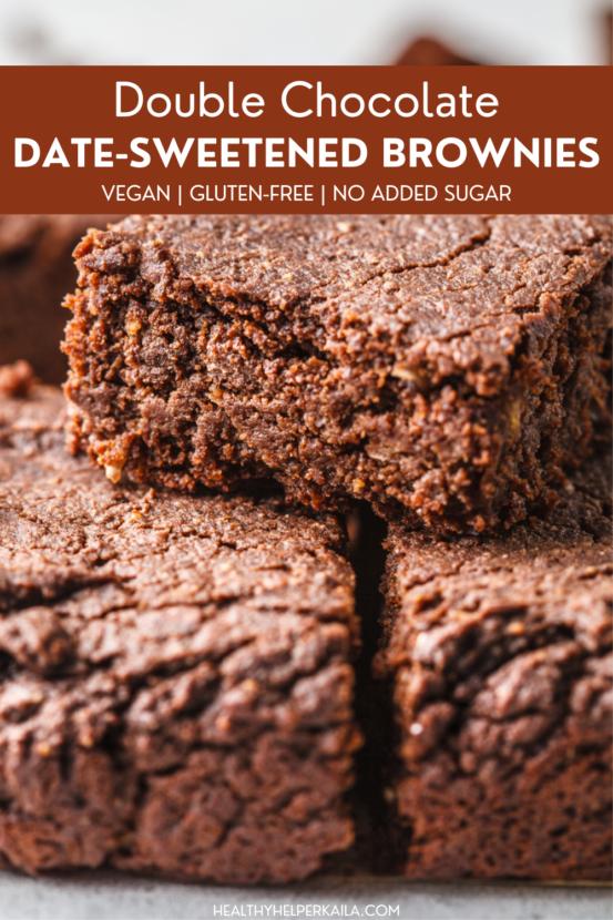 Date-Sweetened Double Chocolate Brownies