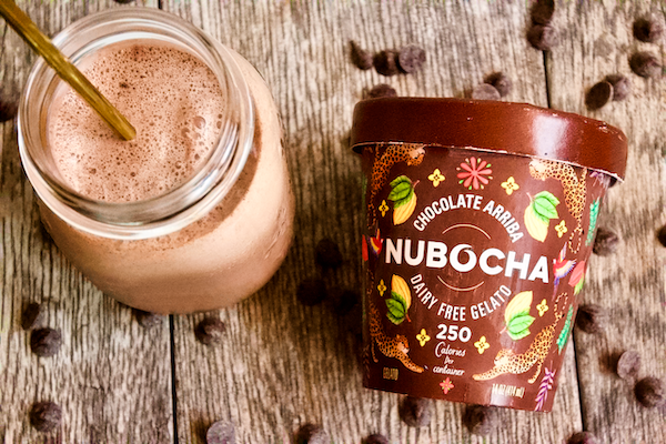 Vegan TRIPLE Chocolate Milkshake | Triple the chocolate, triple the deliciousness in this sugar-free, vegan chocolate milkshake made with plant-based gelato. A sweet treat you can feel good about indulging in.