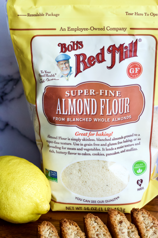 Vegan Lemon Almond Biscotti