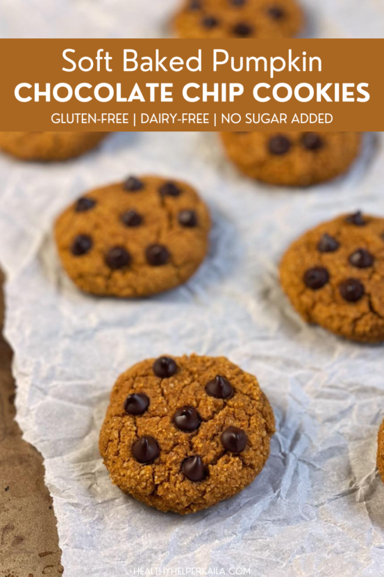 Soft Baked Pumpkin Chocolate Chip Cookies