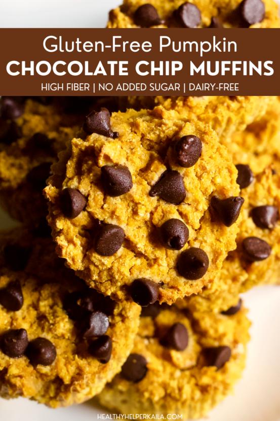 Easy Gluten-Free Pumpkin Chocolate Chip Muffins